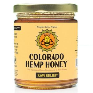 Raw Relief Honey 6 oz Jar 500mg