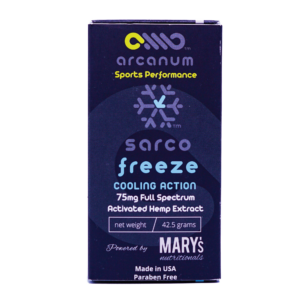 Arcanum Freeze Natural Pain Relief Gel with Hemp Extract (75mg)
